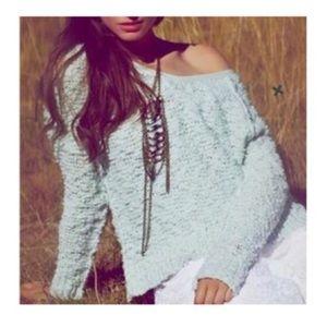 Free People 🌟 Mint Songbird sweater